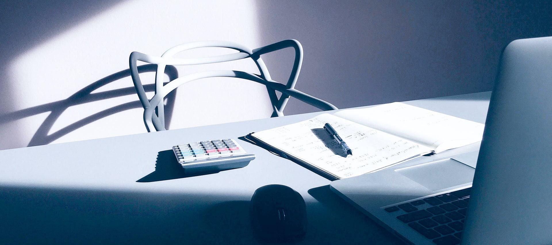 Computer en rekenmachine