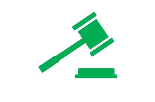 icoon hamer van rechtbank