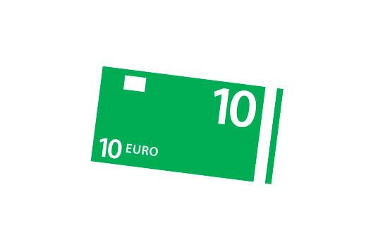 icoon 10 euro biljet