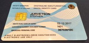 eerste digitale id kaart Estland