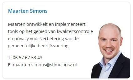 Neem contact op met Maarten Simons