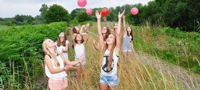Groep meisjes - jeugdparticipatie