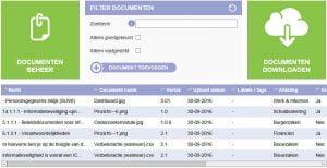 Alle relevante documenten worden opgeslagen in Pinzicht