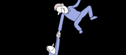 schuldhulp cartoon