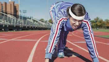 vrouw doet aan topsport