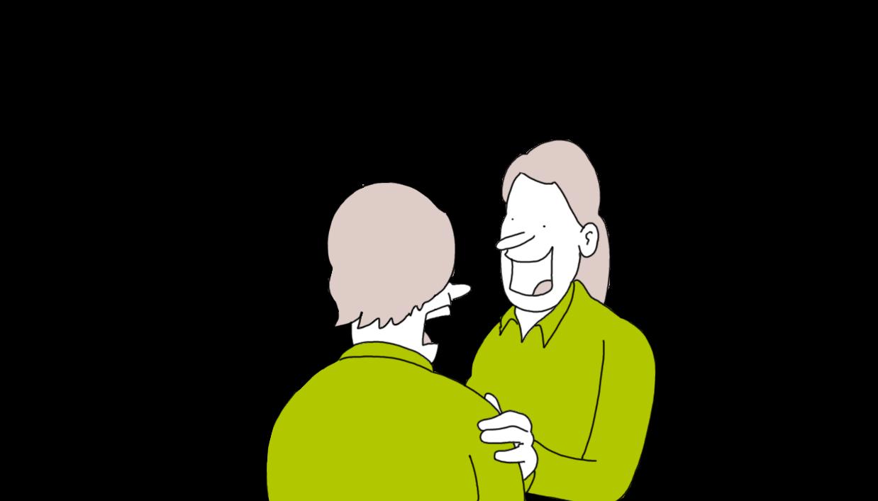 Cartoon wijkteam medewerker