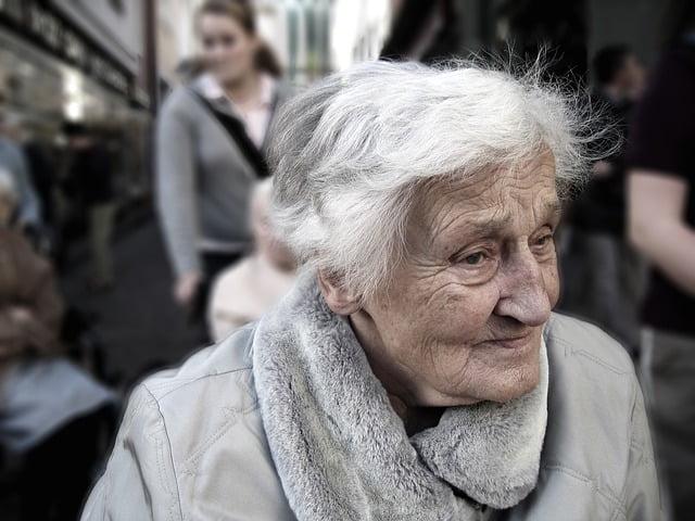 oudere mevrouw