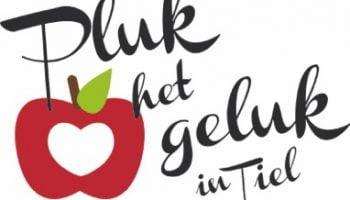 appel met tekst 'pluk het geluk in Tiel'