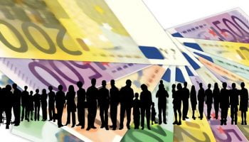 geldbiljetten en mensen