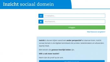 inlogpagina inzicht sociaal domein