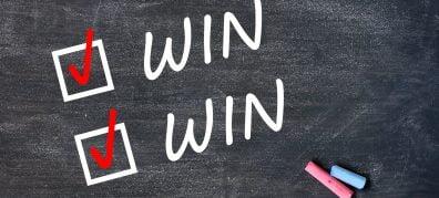 win win op schoolbord