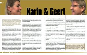 Artikel Karin en Geert in Sprank 9